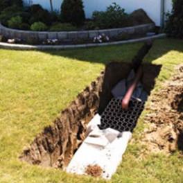 Regnvandsfaskine som byggesæt- standard
