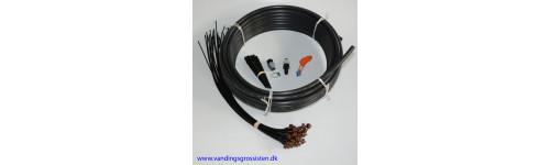 Drypsystem - super til krukker med 25 drypdyser og 20 m PE slange